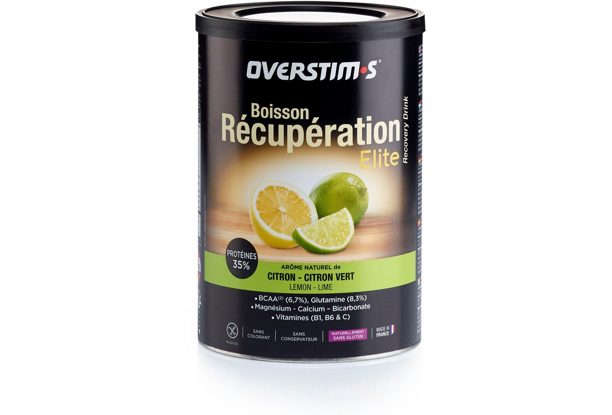 OVERSTIMS Boisson Récupération Élite 420g - Citron/citron vert Diététique Protéines / récupération