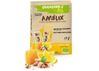 OVERSTIMS paquete de 4 barritas almendras Amelix Bio - Limón Miel