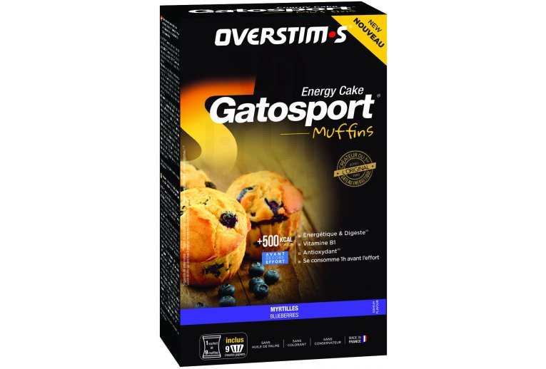 OVERSTIMS Gatosport Muffins - Myrtille