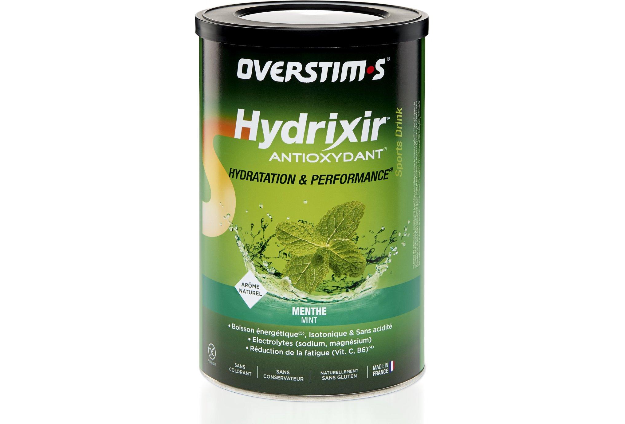 OVERSTIMS Hydrixir 600g - Menthe Diététique Boissons