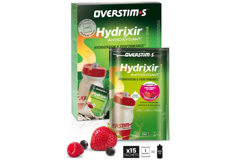 OVERSTIMS Hydrixir 15 sachets - Fruits rouges