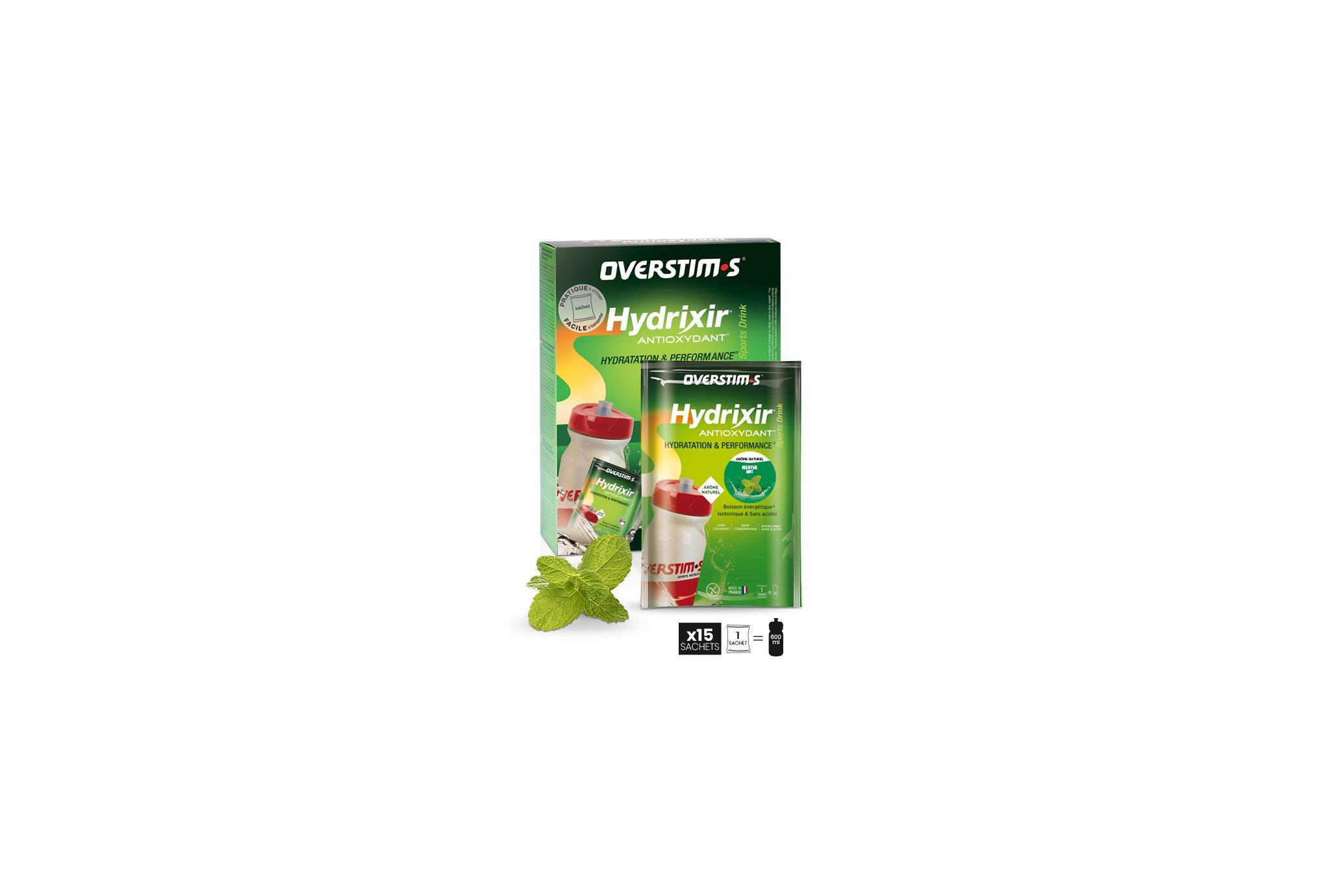 OVERSTIMS Hydrixir 15 sachets - Menthe Diététique Boissons
