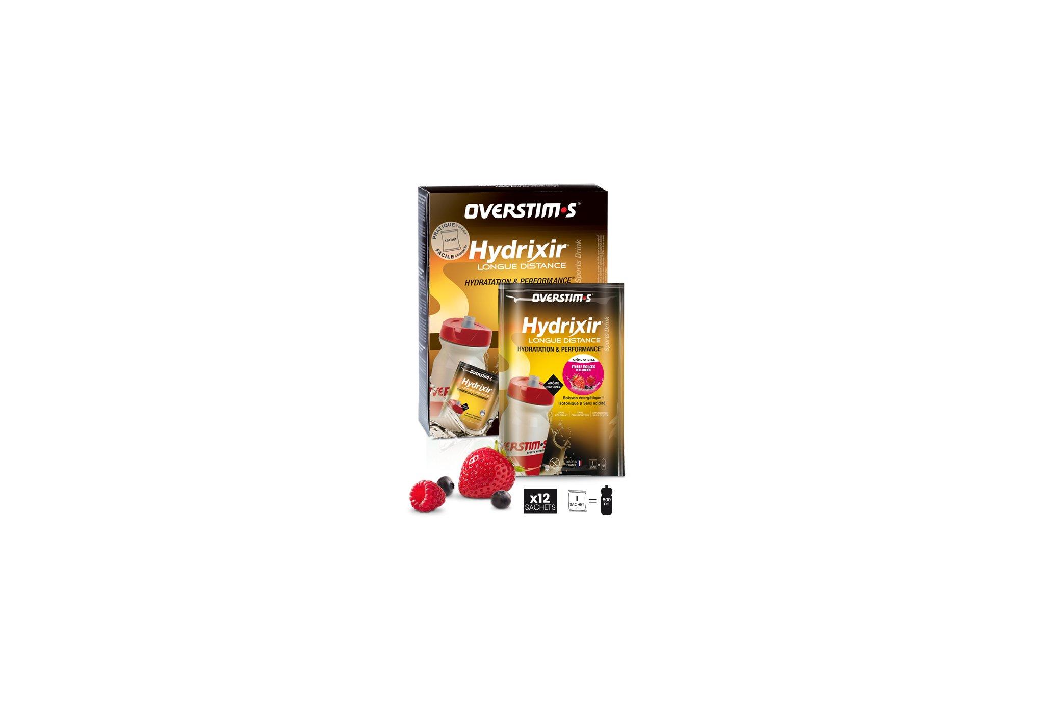 OVERSTIMS Hydrixir Longue Distance 12 sachets - Fruits rouges Diététique Boissons