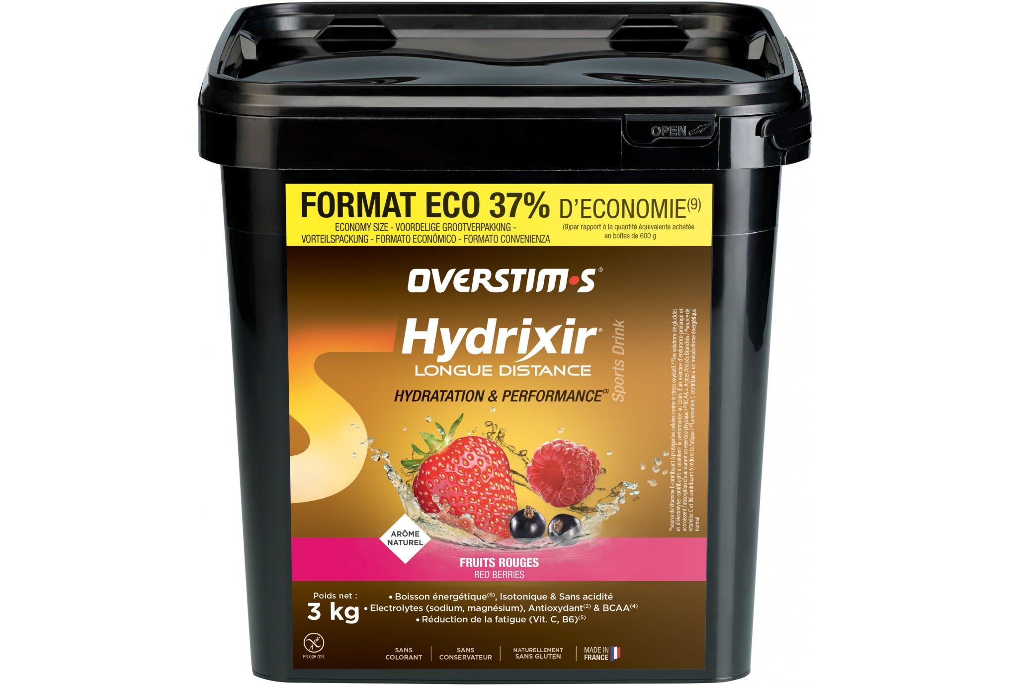 OVERSTIMS Hydrixir Longue Distance 3 kg - Fruits rouges Diététique Boissons