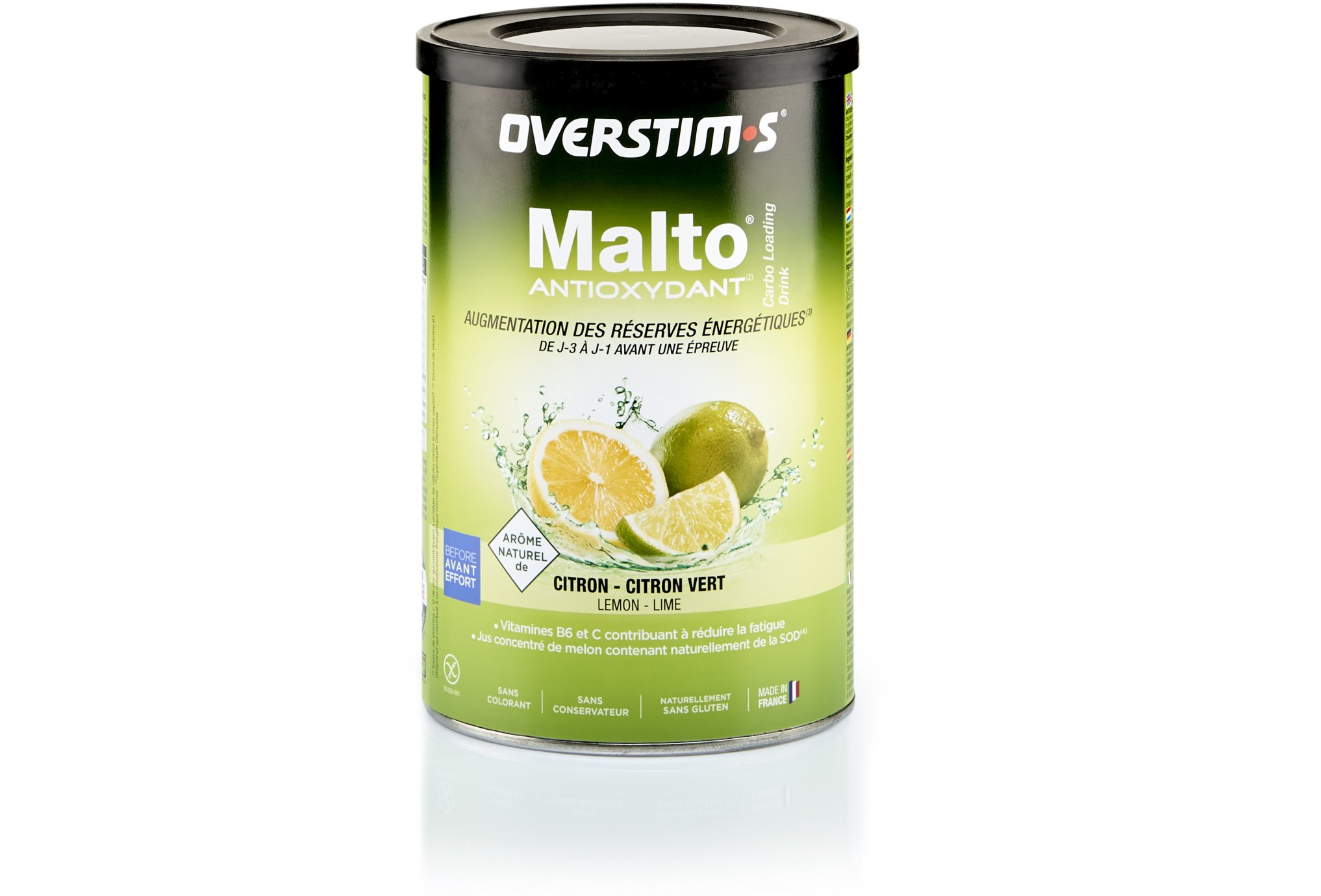 OVERSTIMS Malto Antioxydant 500 g - Citron/citron vert Diététique Préparation