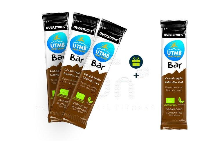 OVERSTIMS Pack de 3 UTMB Bar Bio + 1 offerte - Fèves de cacao/Noix de cajou