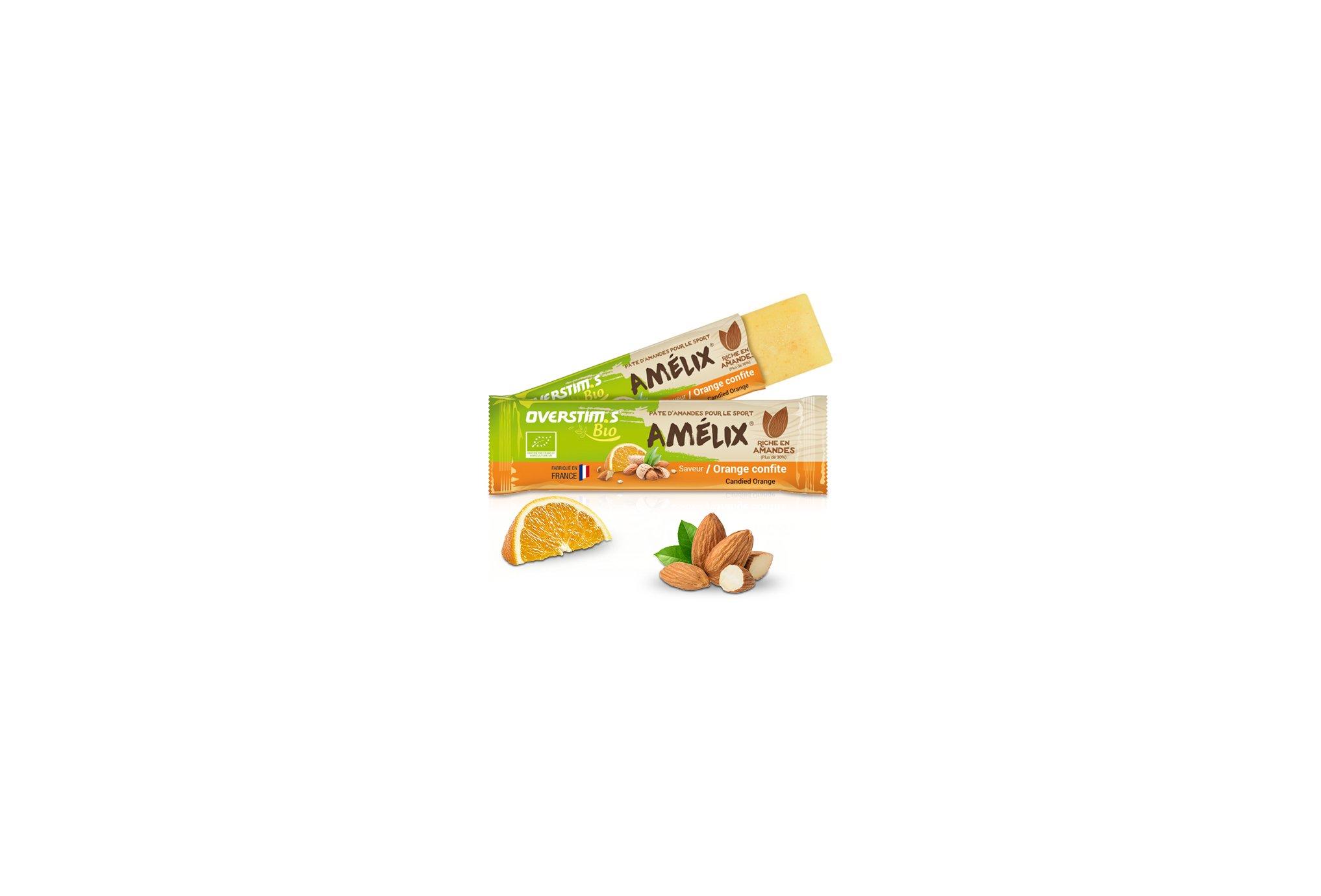 OVERSTIMS Pâtes d'amandes Amélix Bio - Orange confite Diététique Barres