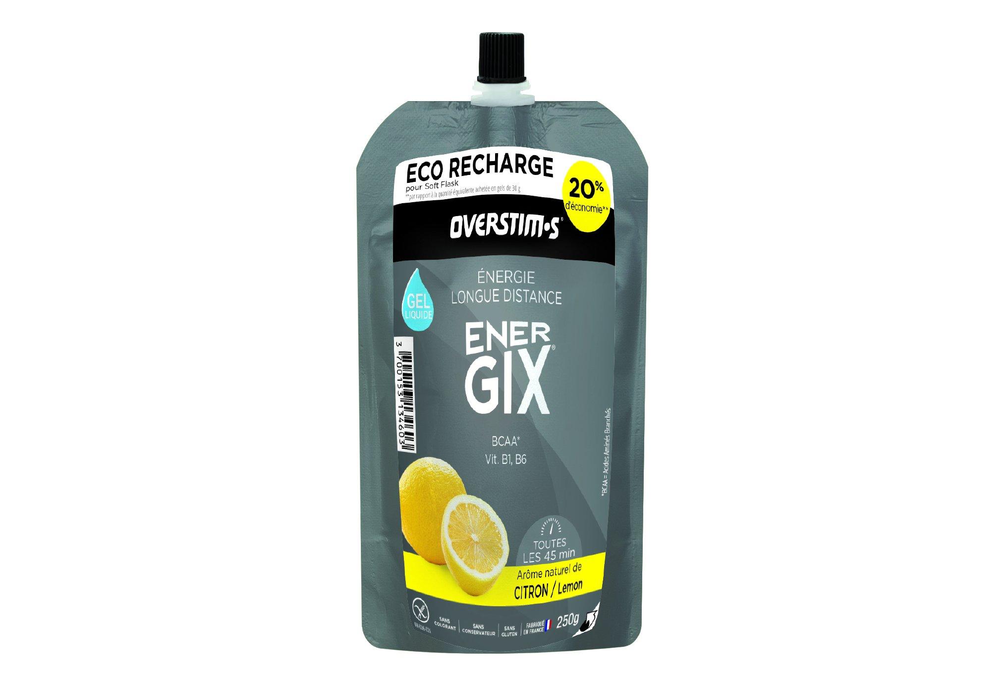 OVERSTIMS Recharge Eco Gel Endurance Energix 250 g - Citron Diététique Gels