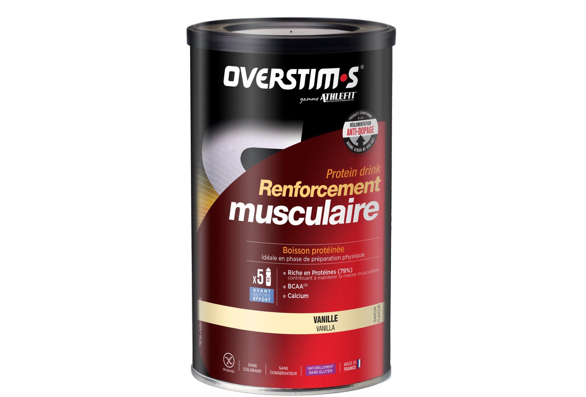 OVERSTIMS Renforcement Musculaire 300 g - Vanille Diététique Protéines / récupération