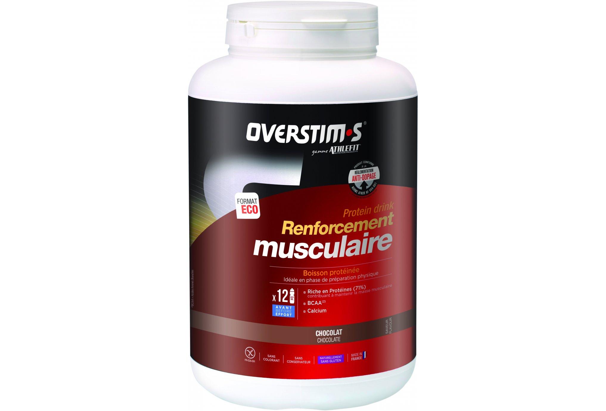 OVERSTIMS Renforcement Musculaire 750 g - Chocolat Diététique Protéines / récupération