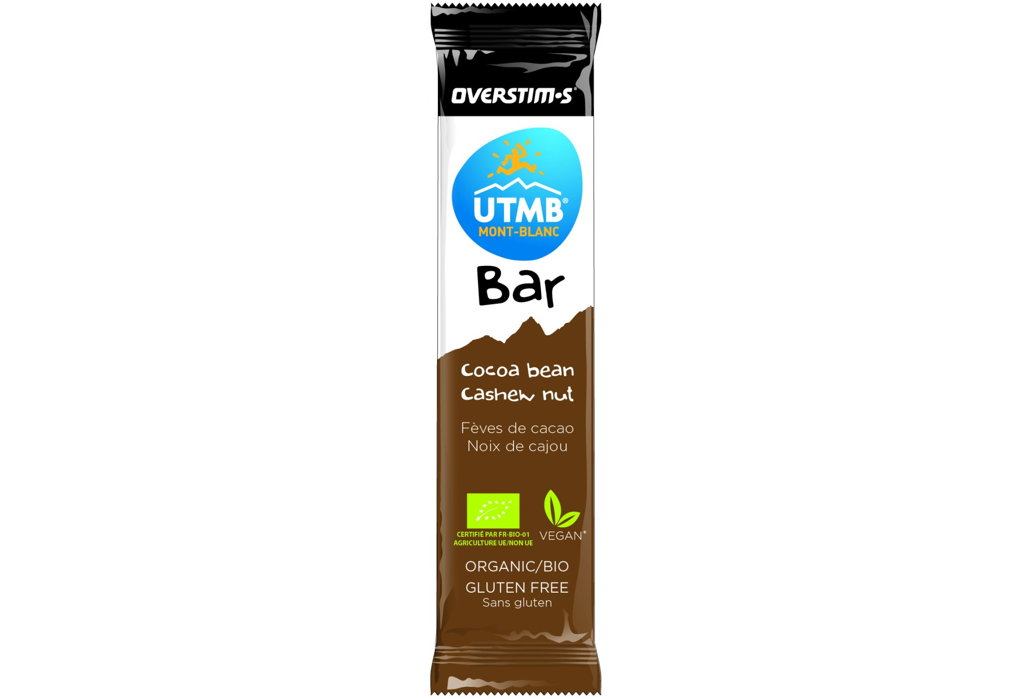 OVERSTIMS UTMB Bar-Granos de cacao/Anacardos Diététique Barres