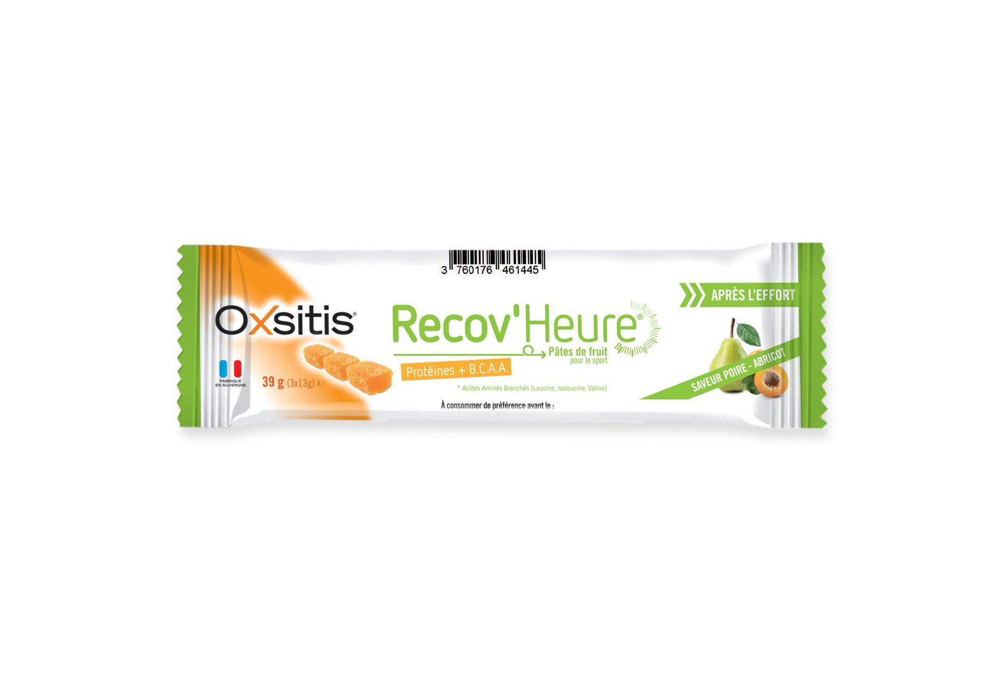 Oxsitis Pâte de Fruits Recov'Heure - Poire/Abricot Diététique Barres