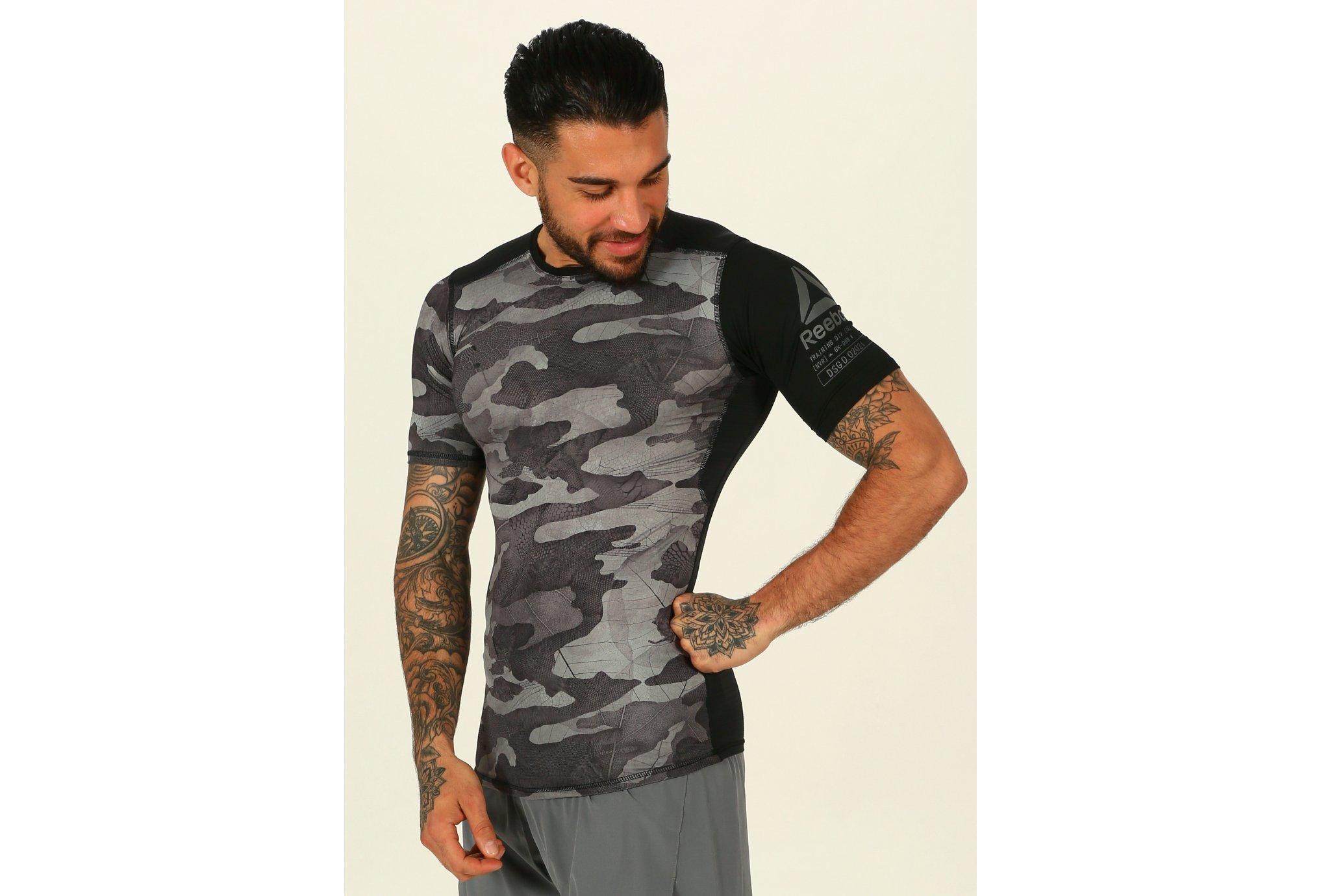 Reebok Camiseta manga corta ActivChill Compression vêtement running homme
