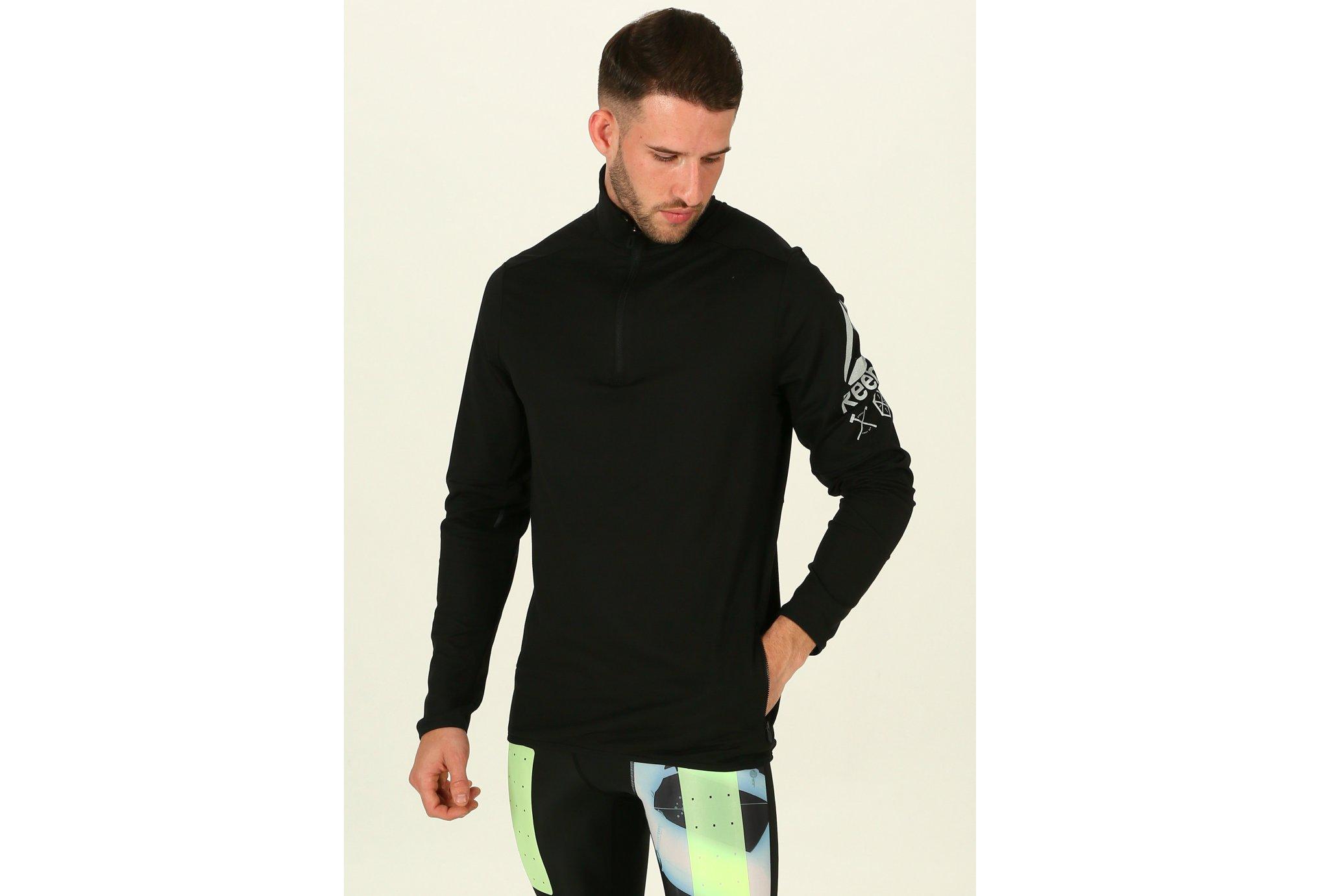 Reebok Bioknit 1/2 Zip M Diététique Vêtements homme