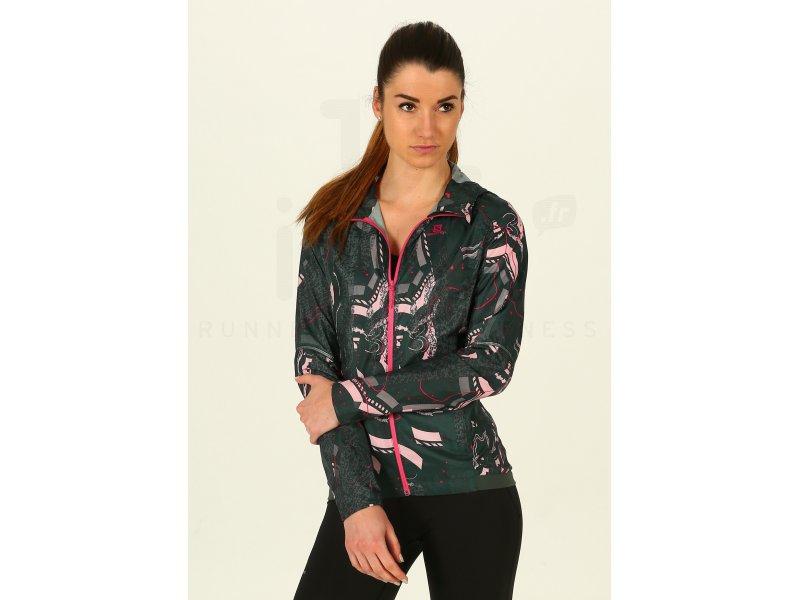 Vestes Coupes Wind Print W Femme Vêtements Vent Agile Salomon txsrBChQd