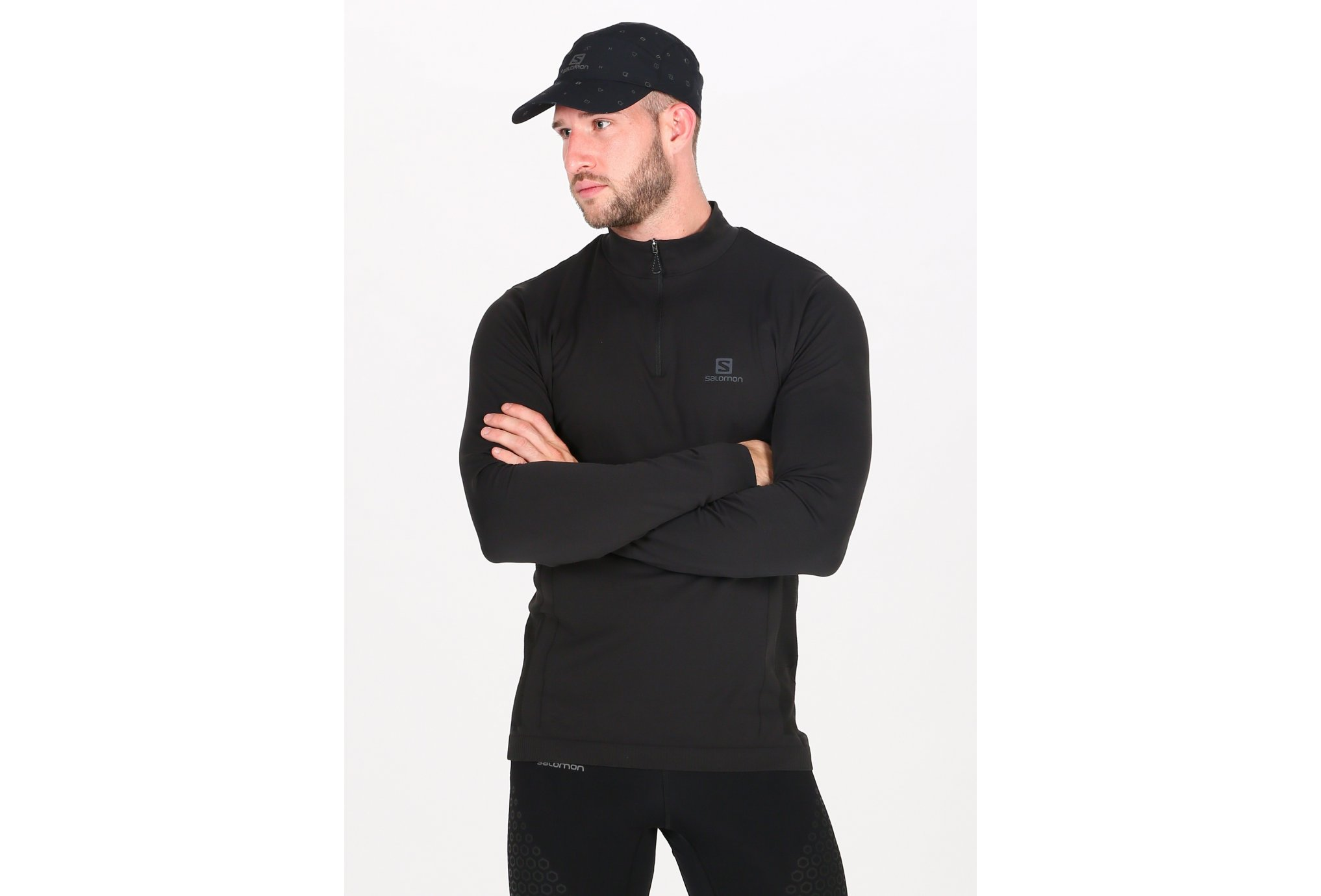 Salomon Explore Seamless 1/2 zip M vêtement running homme