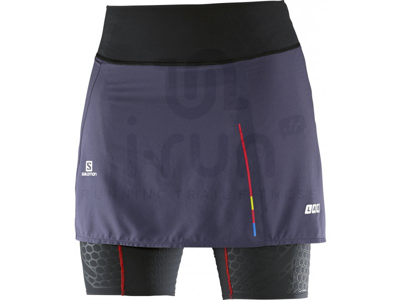 Salomon Jupe S Lab Exo Skort 2 en 1 W Vêtements femme Shorts cuissards jupes
