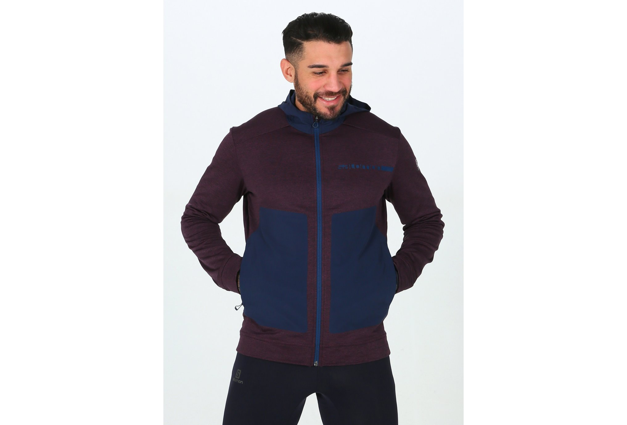 Salomon Pulse Mid Hoodie M vêtement running homme