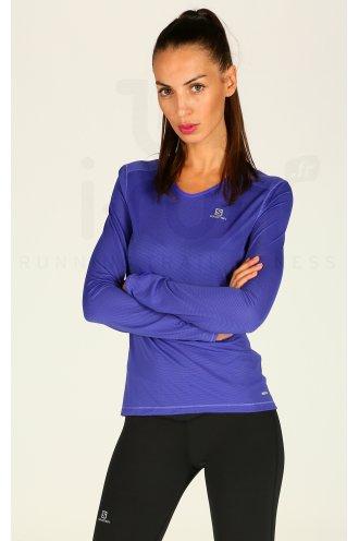 47d8dd142951 Salomon Tee-shirt Trail Runner W pas cher - Destockage running ...