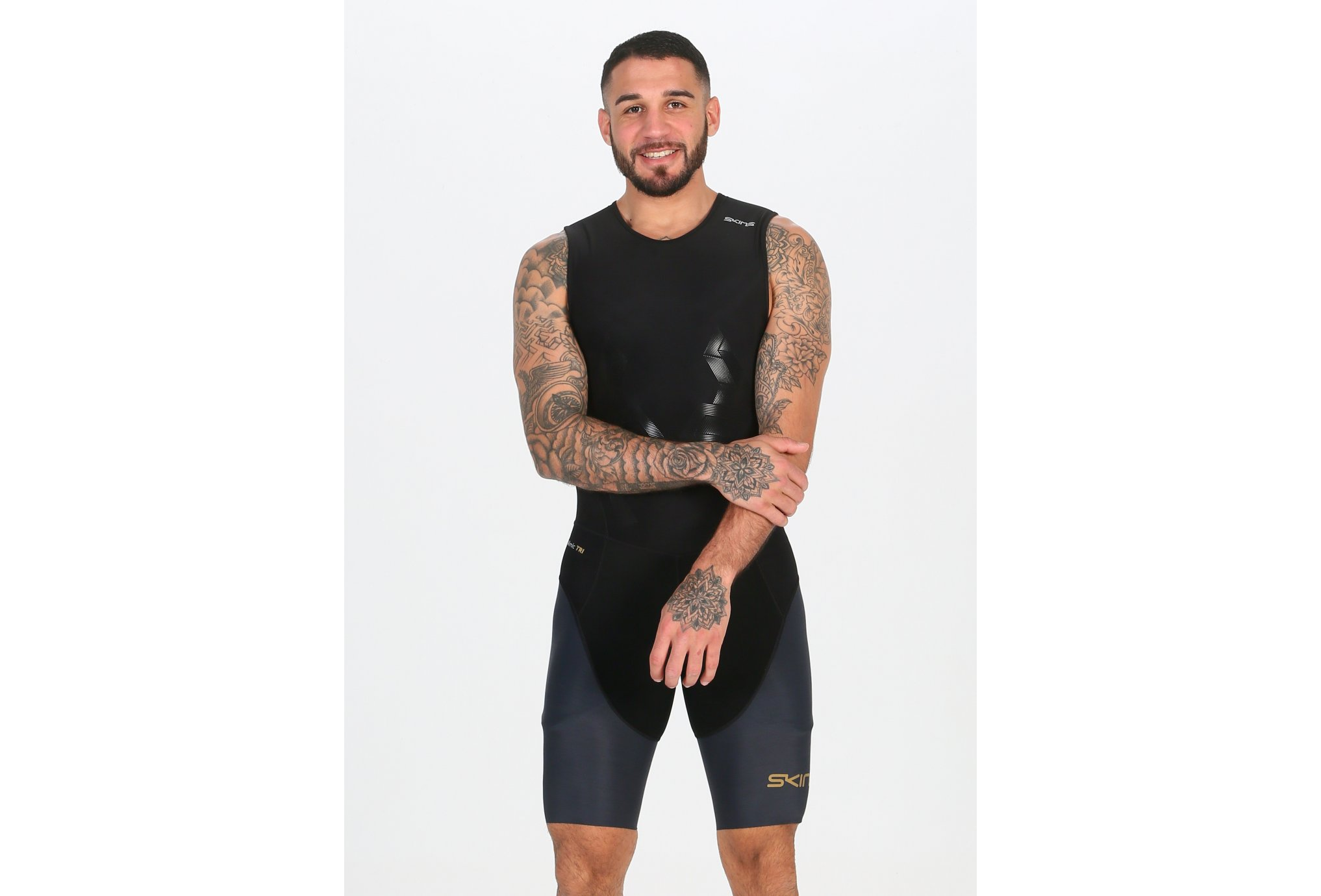 Skins DNAmic Skinsuit Back Zip Triathlon M vêtement running homme
