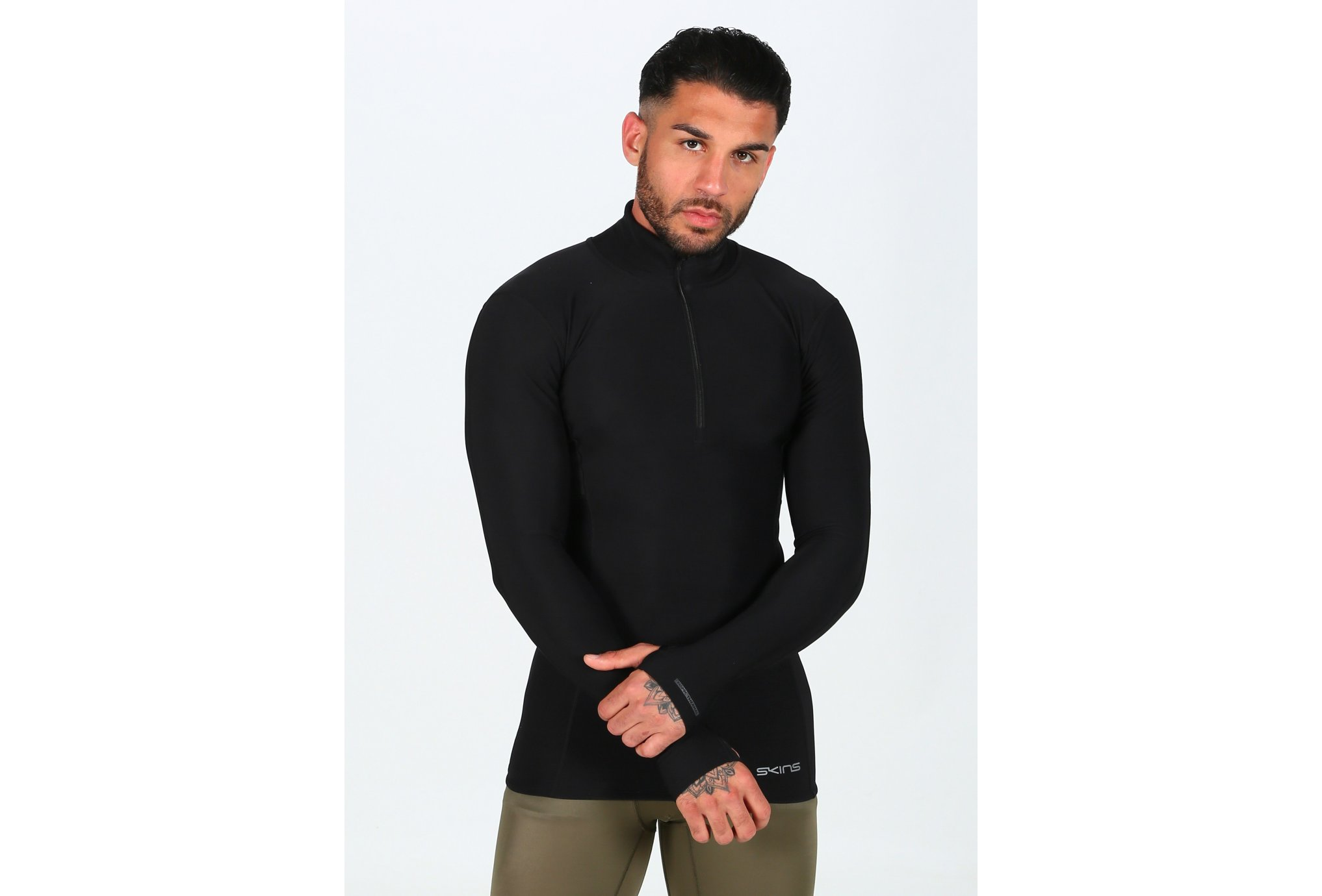 Skins DNAmic Thermal Mock Neck Zip M Diététique Vêtements homme