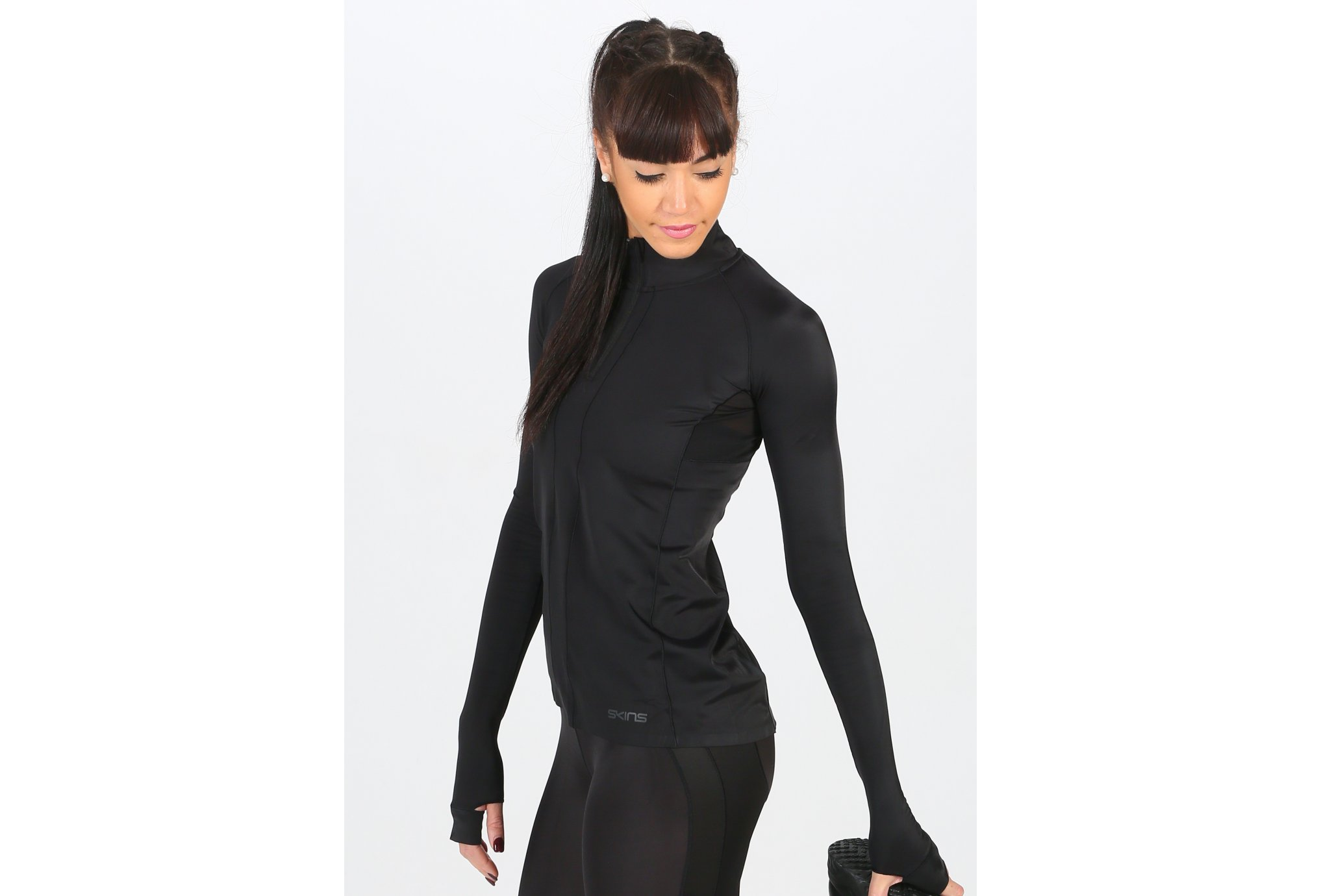 Skins DNAmic Ultimate 1/4 Zip W vêtement running femme