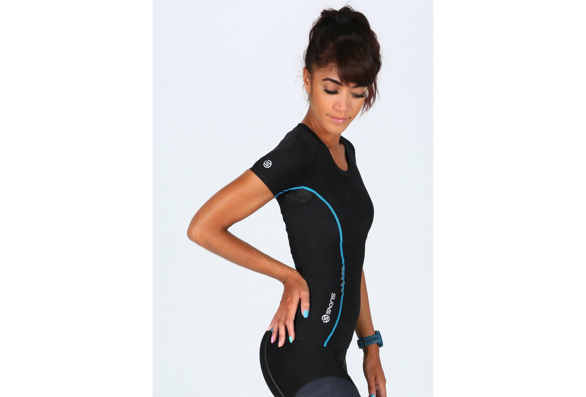 Skins Top A200 SS W vêtement running femme
