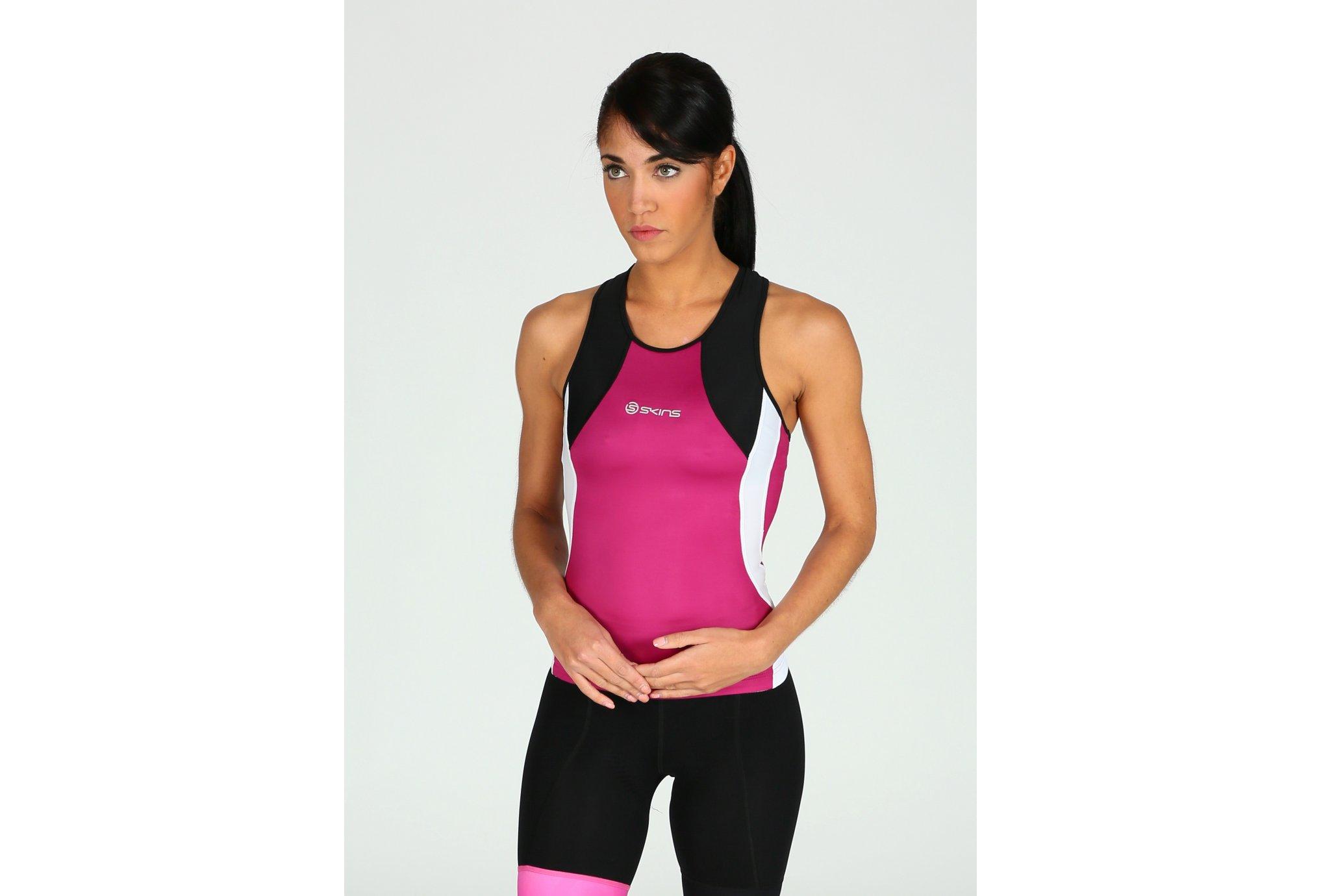 Skins Tri400 Racer Back W vêtement running femme