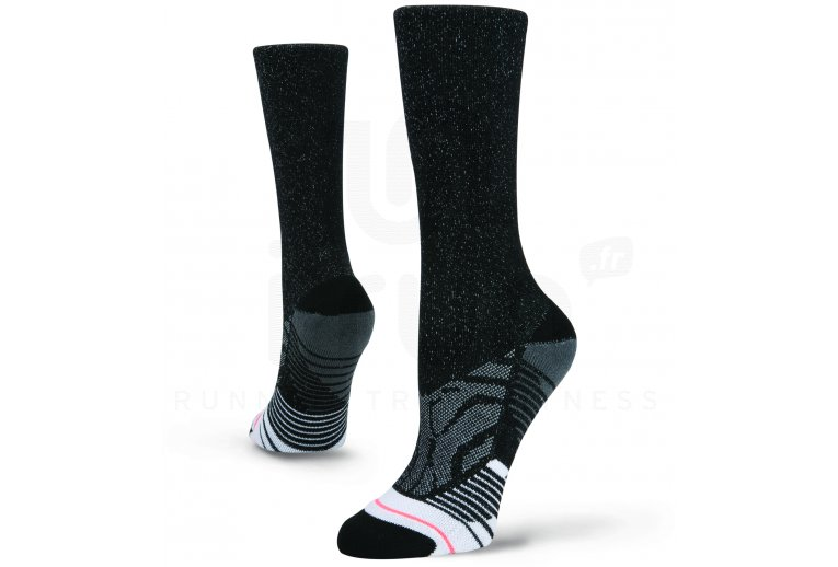Stance Training Shiny Black Crew W