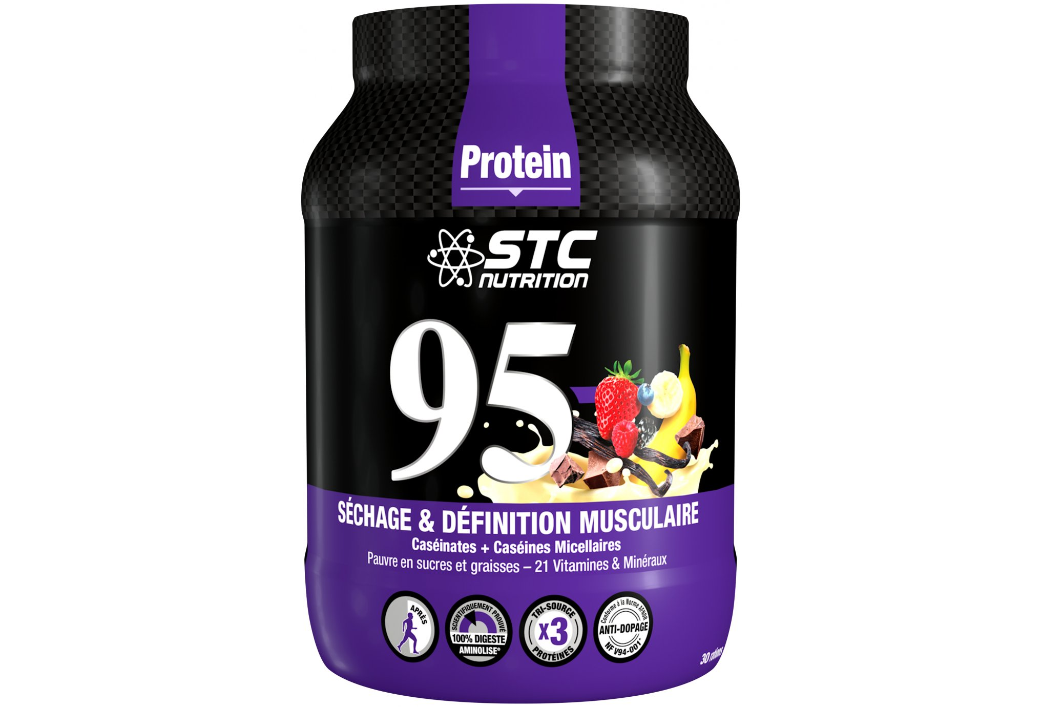 STC Nutrition 95 Pure Premium Protein 750 g - Fruits Rouges Diététique Protéines / récupération