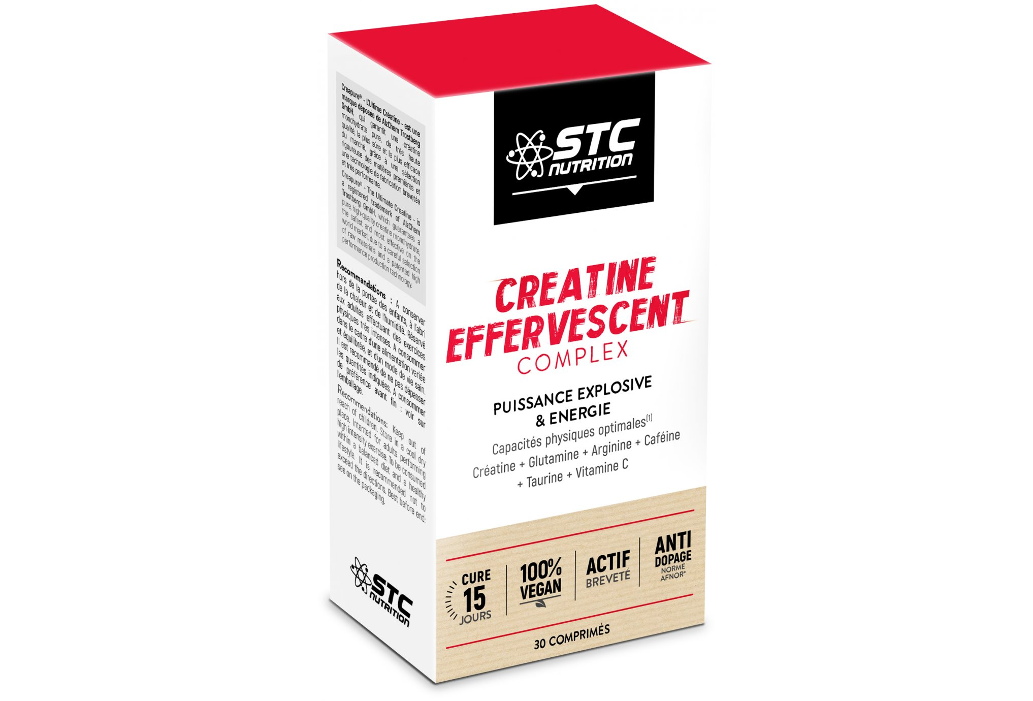 STC Nutrition Complejo de creatina efervescente Diététique Compléments