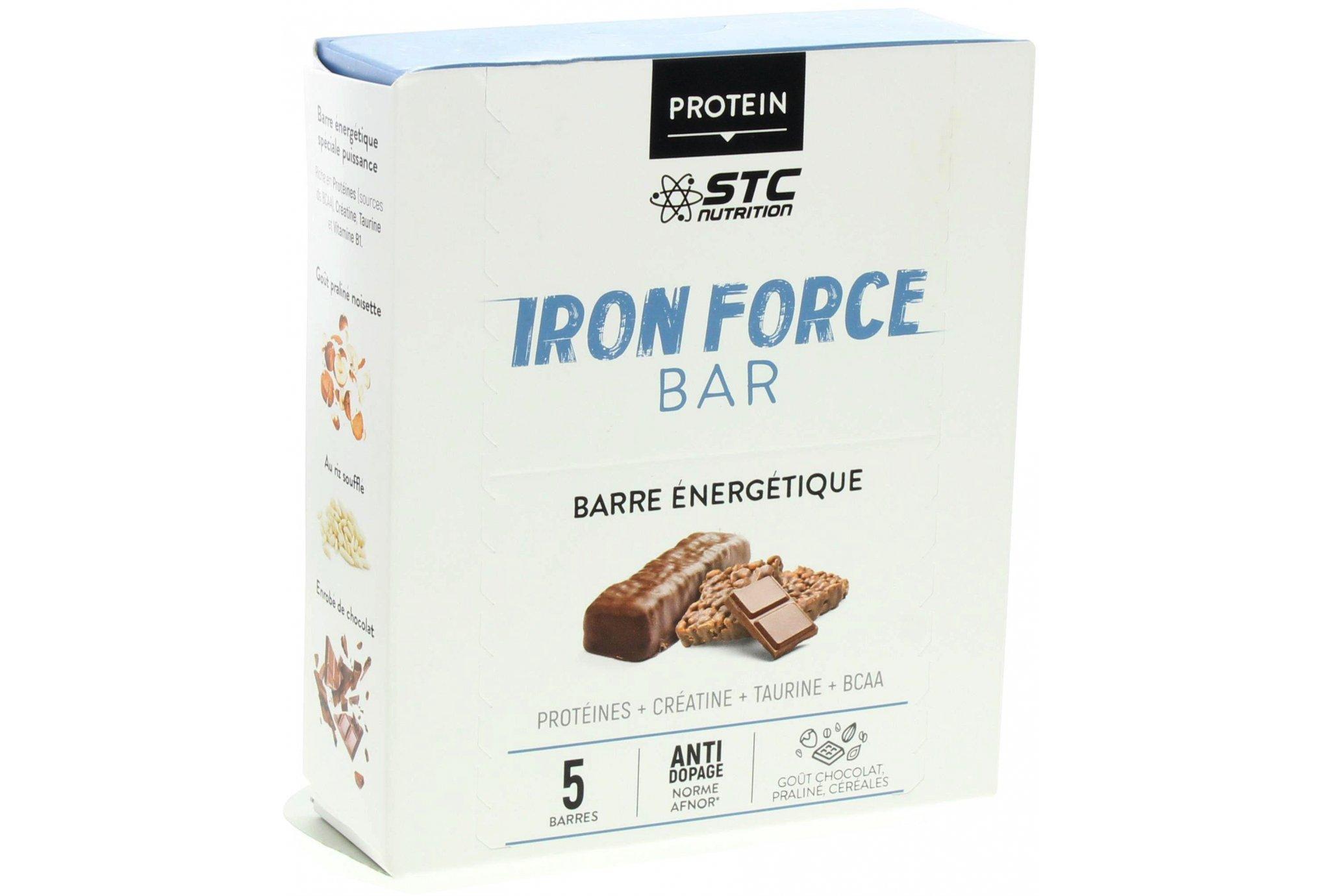 STC Nutrition Etui 5 Barres Iron Force Bar Chocolat Praliné Diététique Barres
