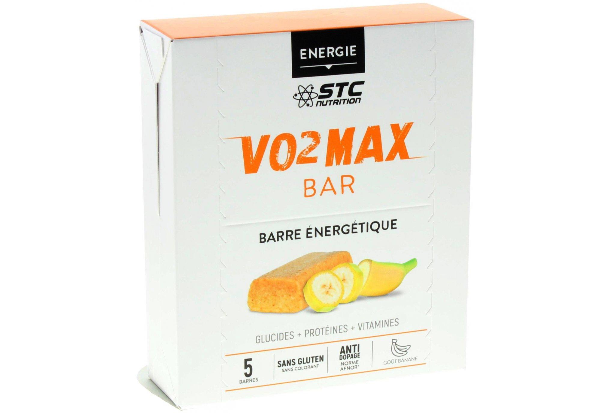 STC Nutrition Etui 5 barres VO2 Max Banane Diététique Barres