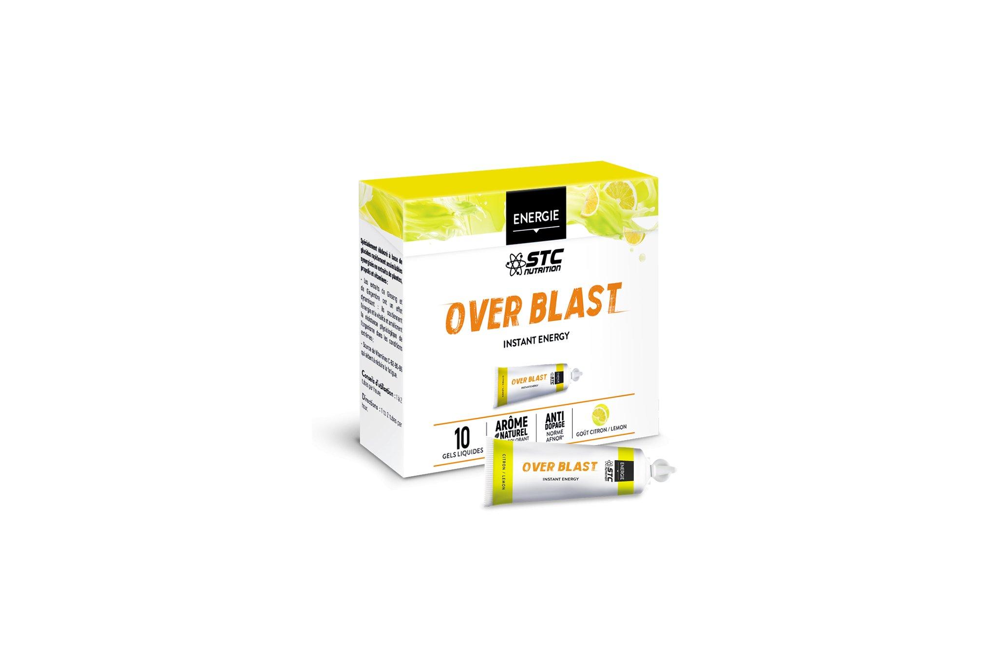 STC Nutrition Etui Gels Over Blast - Citron Diététique Gels