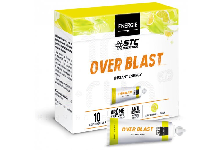 STC Nutrition Etui Gels Over Blast Perf' - Citron/Menthe
