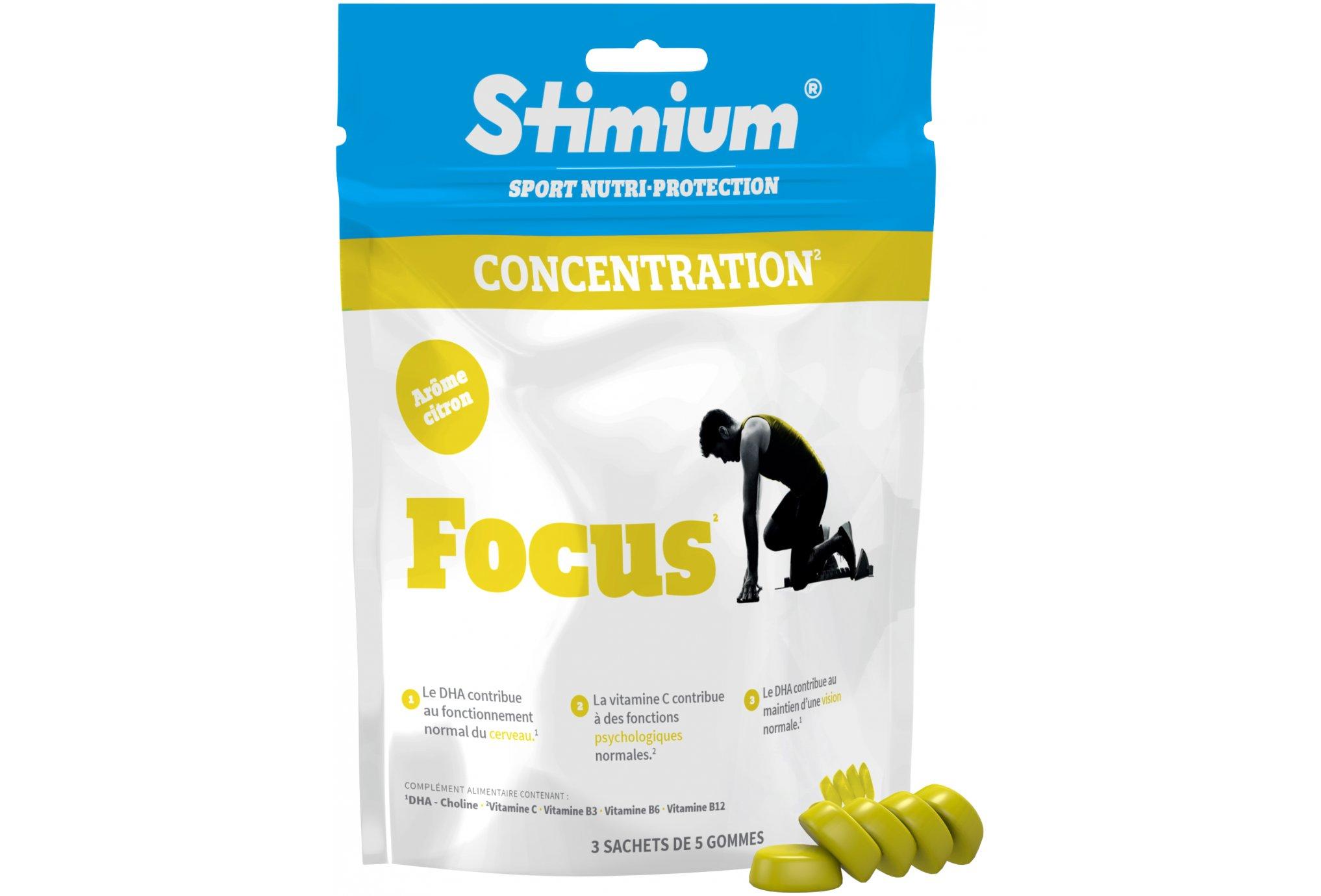 Stimium Gommes focus - citron diététique compléments