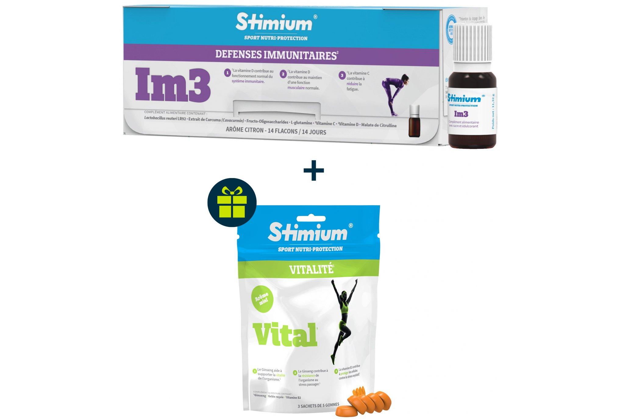 Stimium Pack défenses immunitaires + gommes vital - miel offert diététique compléments