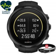 Suunto Pack Spartan Sport Wrist HR All Black + Ceinture Salomon