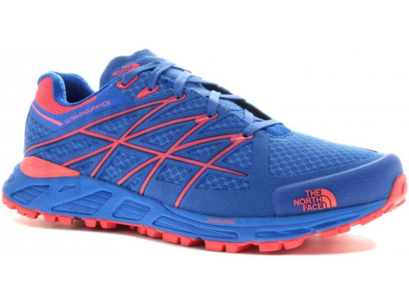 The North Face ULTRA ENDURANCE Bleu - Chaussures Chaussures-de-running Femme