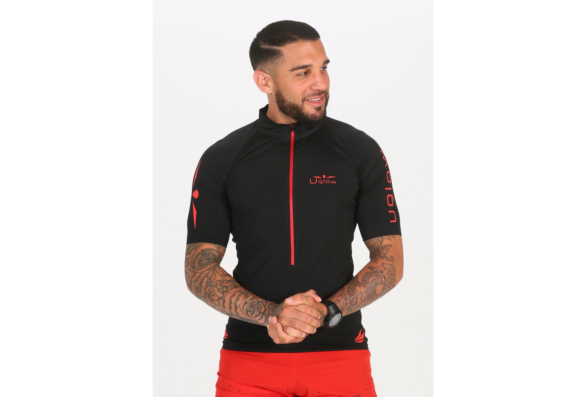 Uglow Ultra 3/4 Zip M vêtement running homme