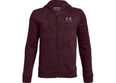 Under Armour Cotton Fleece Full Zip Junior - Vêtements homme running ... 2c78a913c8c7