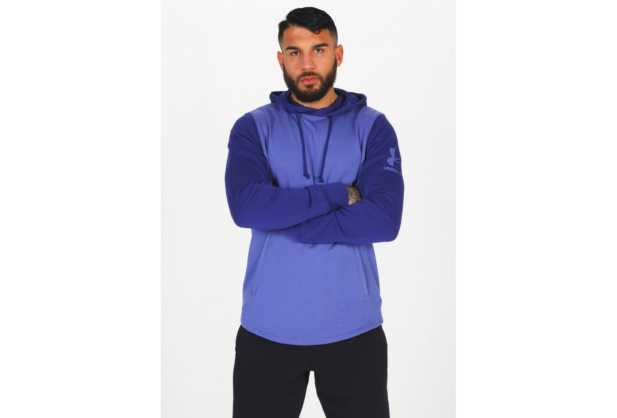 Under Armour Rival Terry Colorblock HD M vêtement running homme